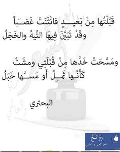 البحتري Beautiful Arabic Words, Arabic Love Quotes, Pretty Words, Islamic Quotes, One Word Quotes, Poet Quotes, Life Quotes, Fabulous Quotes, Romantic Love Quotes