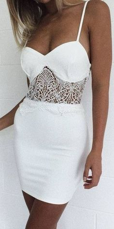#summer #mishkahboutique #outfits | Lace Panel LWD