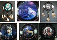 Dream catcher wolf #indian #fairy #unicorn fantasy traditional dreamcatcher,  View more on the LINK: 	http://www.zeppy.io/product/gb/2/171037657506/
