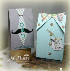 June 2012 Project of the Month — Father's Day Tie Boxes by Julie Masse