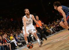 Sergio Rodriguez, basketball player of Real Madrid Baloncesto, was wearing DAMIAN LILLARD ADIPURE CRAZYQUICK 2.0 grey-white-red, during Euroleague semifinal match against Real Madrid Baloncesto 16.5.2014