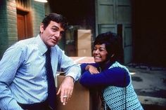 Mannix (TV Series 1967–1975)  Gail Fisher as Peggy Fair WON an EMMY for her performance in this Historical Show. The 1st Black Woman to win an Emmy in a Lead Actress Role. Mike Connors as Mannix. This show still holds up. I loved it then & now.