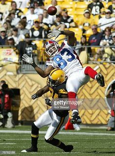 b361b32d571 Lee Evans of the Buffalo Bills is hit by Ike Taylor of the Pittsburgh  Steelers at