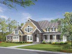 Eplans Craftsman House Plan - Generous Covered Outdoor Living Areas - 5045 Square Feet and 4 Bedrooms(s) from Eplans - House Plan Code HWEPL64105