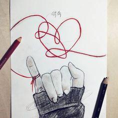 – Dibujos a lápiz – - Moyiki Sites Kpop Drawings, Cool Art Drawings, Pencil Art Drawings, Art Drawings Sketches, Easy Sketches To Draw, Tumblr Sketches, Simple Drawings, Sketch Drawing, Tattoo Sketches