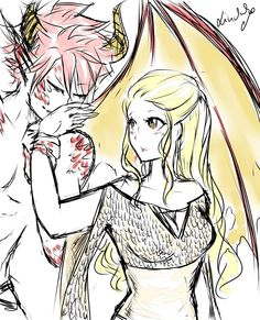 NaLu~ lucy is like the dragon queen from game of thrones and Natsu is like one of her dragons :3