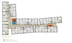 Planta tipo. Concurso Habitação para Todos. CDHU. Edifícios de 6/7 pavimentos - 1º Lugar.Autores do projeto  [equipe vencedora]