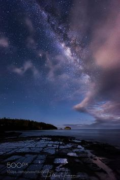 Stars and Stripes Mid-winter play with the Milky Way over the Tessellated…
