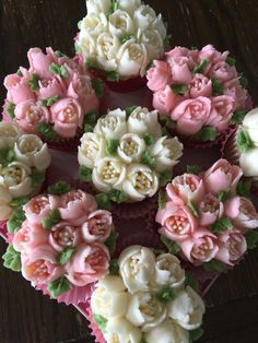 Flower cupcakes, Russian tips