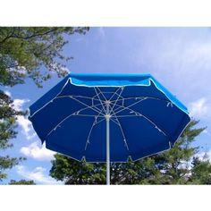 Patio Umbrella Octagon 7 5 Ft White Pole No Vent