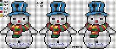 Mais Xmas Cross Stitch, Cross Stitch Borders, Cross Stitch Alphabet, Cross Stitch Charts, Cross Stitching, Cross Stitch Embroidery, Cross Stitch Patterns, Pixel Pattern, Plastic Canvas Christmas