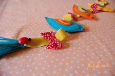 kihnu keçe: rengarenk keçe kuşlar & colourful felt birds