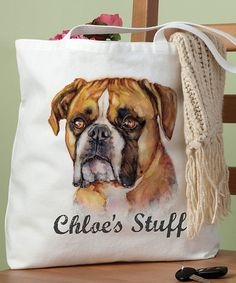 Another great find on #zulily! 'Stuff' Dog Breeds Personalized Tote #zulilyfinds