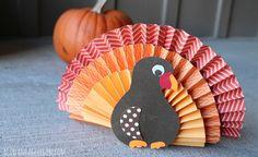 Folded Paper Turkey