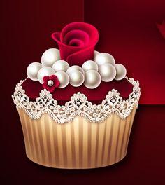 ●••°‿✿⁀Valentine‿✿⁀°••● Cupcake Drawing, Cupcake Art, Paper Cupcake, Cupcake Cookies, Cupcake Clipart, Food Clipart, Ice Cream Cupcakes, Coffee Cupcakes, Cupcake Pictures