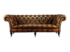 Invest in a classic to treasure for life. Fleming & Howland's Philip Stanhope Chesterfield Sofa is the cream of the crop when it comes to luxury leather, and the perfect way to work the equine trend. At the base of this beauty lies a hand-joined hardwood frame that's been expertly sprung, stuffed, upholstered, buttoned and hand-nailed with antique studding. #LuxDeco #Design #Homeware