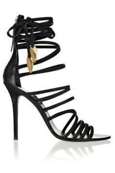 Item of the Day: Giuseppe Zanotti 'Mortisia' Leather Sandals Dream Shoes, Crazy Shoes, Me Too Shoes, Stiletto Shoes, Shoes Heels, Sexy Heels, Gladiator Shoes, Shoes Sneakers, Stilettos