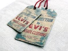 Levi's Vintage { interesting metal embellishment }