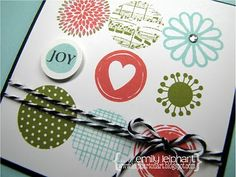 Square Card with 9 Stamped Circles