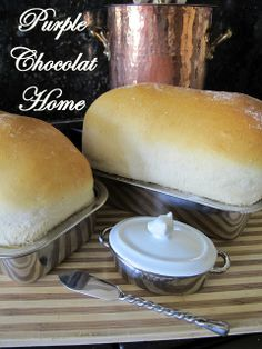Purple Chocolat Home: Best Homemade White Bread Loaf and My First Tomato