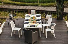 Pontoon Dining table (100 x 200 cm) white
