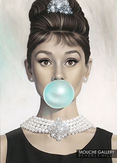 "Michael Moebius Audrey. 30""x40"". Limited Edition Giclée Print on Canvas. Stretched and Ready to Hang. Hand Signed by Michael Moebius. Edition of 250."
