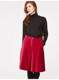 63590f97083af Beatrice Organic Cotton Velvet Skirt