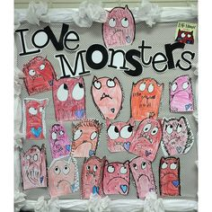 Love monster directed drawings!!! Oh how I love Valentine's stuff!!!! #teachersfollowteachers #iteachtoo #cutestdrawingsever #adorbs