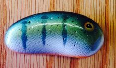 Image result for fish painted rock