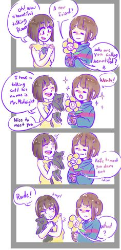 Fran Bow meets Frisk! (I love that game too)