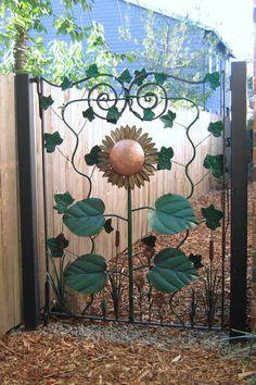Sunflower Gate by Yardley Forge