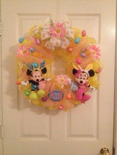 Disney Easter deco mesh wreath by MoniquesWreaths on Etsy, $65.00