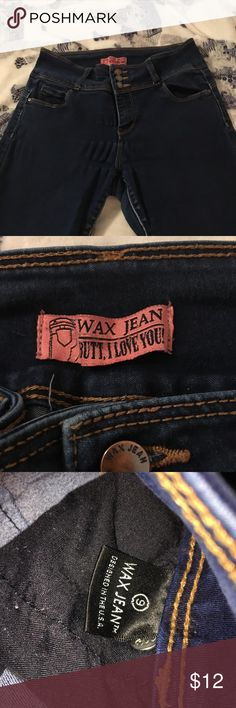 Booty Jeans. Awesome butt lift Jeans.  Skinny leg with 3 buttons.   Dark Distressed wash.   Give yourself a butt lift with these amazing jeans Wax Jeans Butt I Love You Jeans Skinny