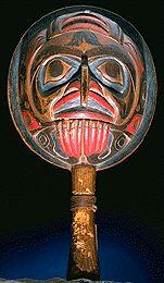 shaman's rattle: bird: Tsimshian - Civilisations.ca -