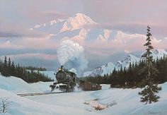 another great train painting by Howard Fogg.