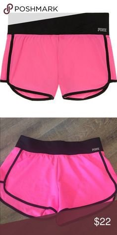 VS PINK Ultimate Running Shorts Excellent condition! 77% polyester 23% elastane PINK Victoria's Secret Shorts