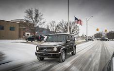 Download wallpapers 4k, Mercedes-Benz G-Class, winter, 2019 cars, G-Class, street, SUVs, new G-Class, Gelendvagen, german cars, Mercedes