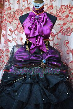 Anime Cosplay Vocaloid Megurine Luka Manga Costume Dress | eBay