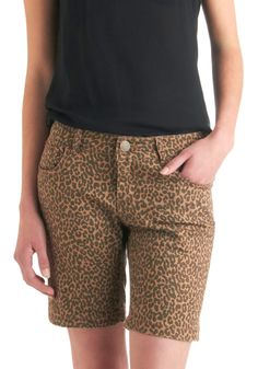 my fave style of shorts, and I'm finally seeing the good side of animal prints.  :)