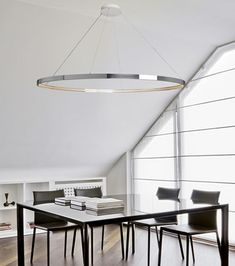 Pendant lamp / contemporary / steel / LED OMEGA 120-200 Le Deun Luminaires