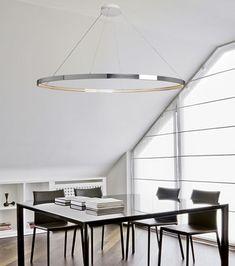 Pendant lamp / contemporary / steel / LED OMEGA 120-200 Le Deun Luminaires