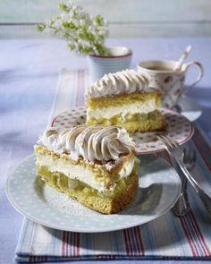 Unser beliebtes Rezept für Stachelbeer-Baiser-Torte und mehr als 55.000 weitere kostenlose Rezepte auf LECKER.de. Sweets Recipes, Desserts, Cake Cookies, Vanilla Cake, Yummy Treats, Cheesecake, Food And Drink, Ethnic Recipes, German Recipes