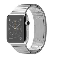 "Apple Watch 42mm Stainless Steel Case with Link Bracelet, Sapphire crystal, Retina Display with Force Touch, Ceramic back, Digital Crown, Heart Rate Sensor, Accelerometer, gyroscope, Ambient light sensor, speaker with microphone, 802.11n, Bluetooth 4.0, and ""Water Resistant"" (not for swimming or bathing). US $899.99"
