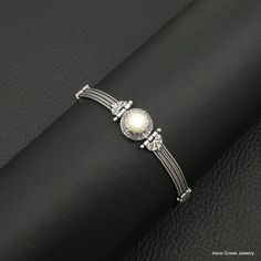 Natural Mother Of Pearl Bracelet Byzantine by IreneGreekJewellery