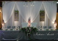 This one is just wild! #backdrop #wedding #headtable #draping