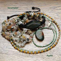 Necklace and bracelet for women, Beaded bracelet, Beaded necklace Agate Jewelry, Jewelry Dish, Jewelry Shop, Bracelet Making, Jewelry Making, Gift Bags, Beaded Bracelets, Gifts, Etsy