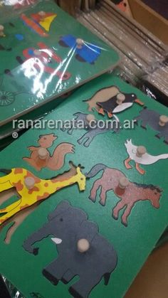 Puzzle de madera con tirador ranarenata.com.ar