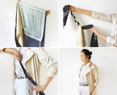 How to Tie a Scarf Like a French Girl — Vogue Ways To Wear A Scarf, How To Wear Scarves, Womens Fashion Casual Summer, Womens Fashion For Work, Funny Outfits, Long Scarf, Fashion Over, Casual Fall, Scarf Styles
