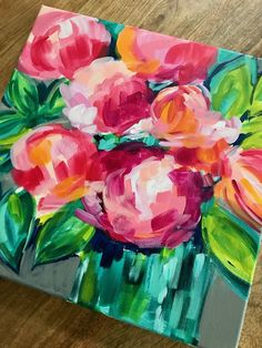 Learn the easy way to paint abstract flowers with acrylic paint on canvas with artist Elle Byers. Easy flower painting tutorials with step by step instructions for beginners. Flower Painting Canvas, Acrylic Painting Flowers, Acrylic Painting For Beginners, Simple Acrylic Paintings, Watercolor Paintings Abstract, Acrylic Painting Tutorials, Flower Canvas, Abstract Flowers, Watercolor Tips