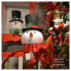 Snowman Head toppers in many styles available in our Christmas Decoration store. Shop by collection to quickly find coordinating items to create your own Christmas wonderland.   Stop by and find your favorite now using this link: http://shelleybhomeandholiday.com/shop-by-brand-season/raz-imports/raz-christmas/raz-christmas-2016/